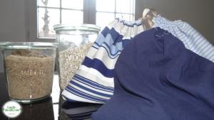 Fabrication de sacs en tissus pour les courses pendant son congé maternité vrac