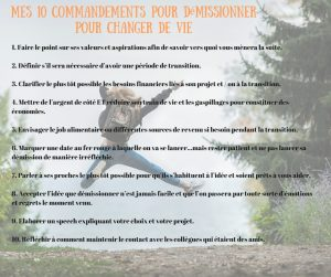 démission - 10 commandements