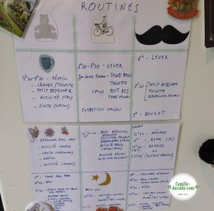 Actuces routines - routine familiale